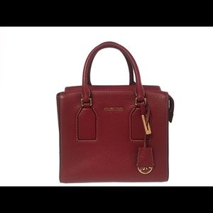 Michael Kors Satchel Leather Handbag Red Like New